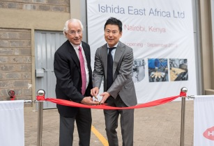 Ishida EA office opening ceremony ribbon cutting Takahide and Tony Caridis II