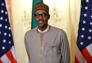 Nigerian President Buhari Addresses Reporters Before Working Lunch With Secretary Kerry 19271446964