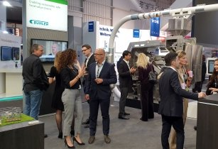 Hannover Messe Buehler at Microsoft booth